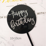 Colorful Circle Happy Birthday Acrylic Cake Topper Decoration