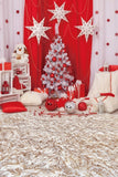 Gray Chic Wall Winter Christmas Photo Background Backdrop