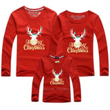 Family Christmas Matching Clothes Tees Red Pajamas