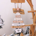 Wooden Christmas Decoration Tree Pendant Ornament