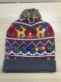 LED Knitted Christmas Hat Beanie Light Up Warm Hat