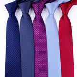 8 CM Business Formal Tie Pencil Striped