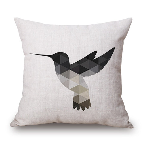 Nordic Geometric Animal Cushion Cover Case