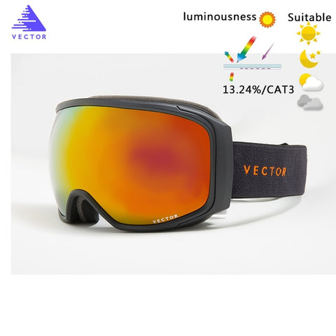 Ski Goggles Anti-Fog UV400 Skiing Snowboard Glasses Spherical Big Mask Eyewear Men Women
