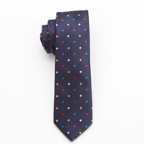 Men Slim Necktie Polyester Fashion For Business And Accessories