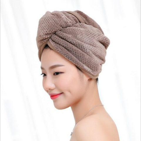 Microfiber Fleece Hair Towel Quick Drying