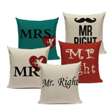 Mr Mrs Pillow Case Covers