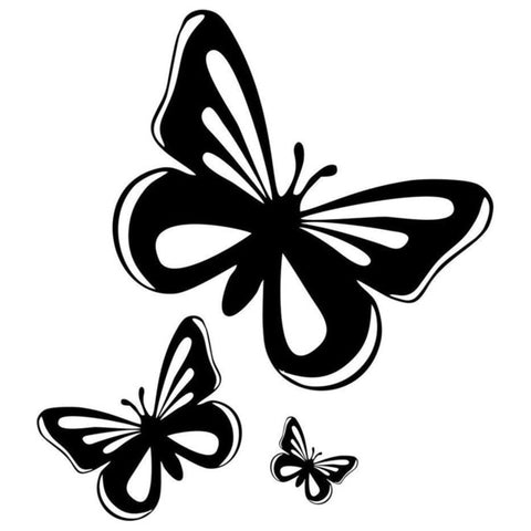 Beautiful Butterflies Vinyl Car Decal Stickers