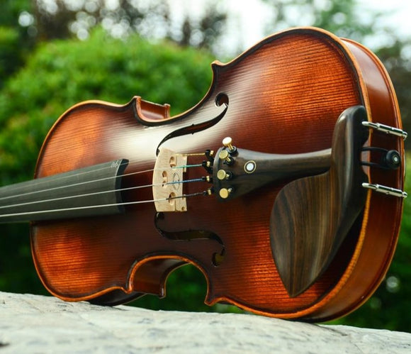 Handmade Violin V02 Antique Maple 3/4 With Fiddle Case Bow And Rosin Size 1/8 1/4 1/2 3/4 4/4