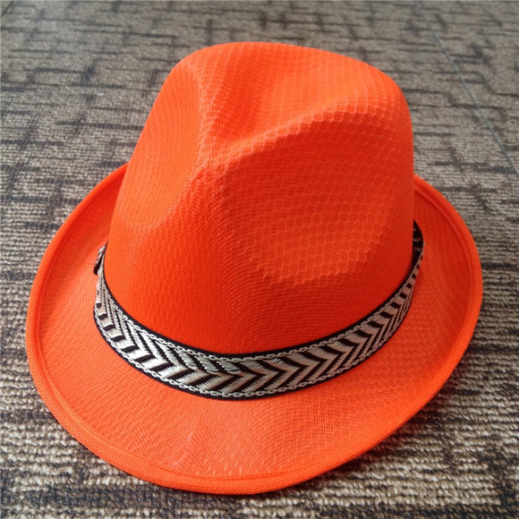 11 COLORS Womens Summer Jazz Hat Panama Fedora Outdoor Sunhat Vacation