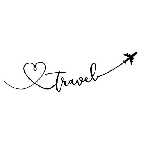 Cartoon Love Travel Aeroplane Delicate Vinyl Car Sticker Decal Special Pattern