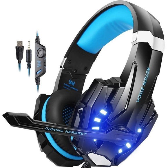 Gaming Headset Casque Deep Bass Stereo Headphone with Microphone LED Light