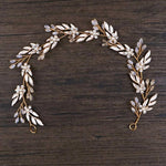 Vintage Boho Leaf Gold Headpiece
