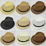 Classic Casual Straw Fedora Hat