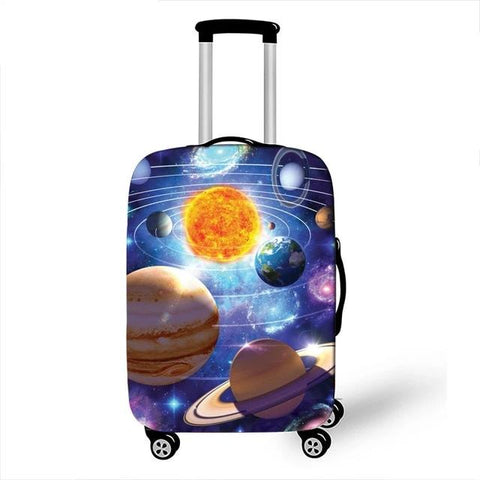 World Map Animal Luggage Cover Protective Case