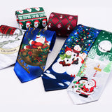 Christmas Neckties Printed Santa Claus Tree Festive Gift
