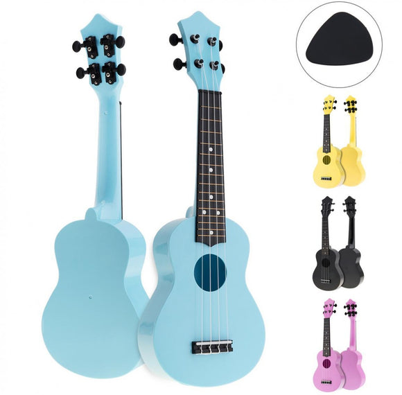 21 Inch Colorful Acoustic Ukulele 4 Strings Instrument For Kids