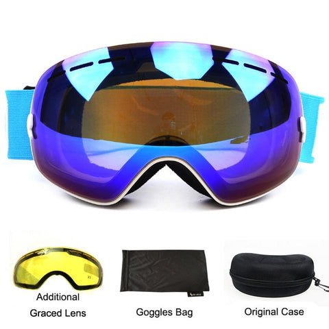Ski Goggles Double Layer UV400 Winter Mirror Glasses