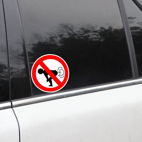 12CM X 12CM Funny  No Farting Vinyl Decal  Car Sticker