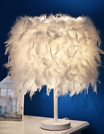 Featherly Ostrich Lamp Decor