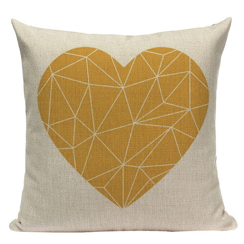 Yellow Pillow Case Geometric Cover Nordic Decor