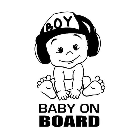 Baby Boy on Board Vinyl Sticker Car Decal