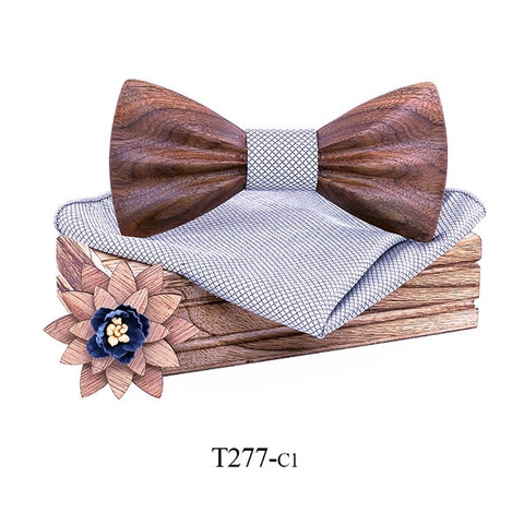 Men Wooden Bow Tie  Unique Handcrafted Fashion