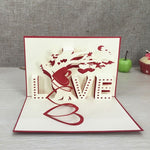 Birthday Love Postcard Greeting 3D Pop Up Cards