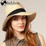 Summer Hat Beach Sun Panama Straw Fedora