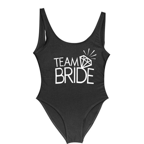 Team BRIDE One Piece Swimsuit Bachelorette