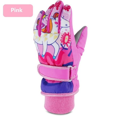 Winter Warm Children Ski Gloves Mittens Anime