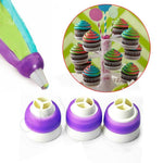 3 Color Icing Piping Bag Russian Nozzle Cake Decor