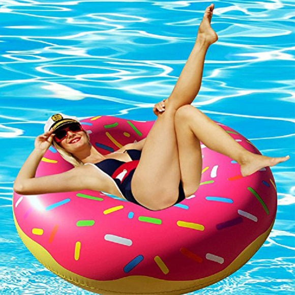 Adults and Kids Inflatable Donut Swimming Tube Rings, Pool Floats