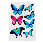 Butterfly Car Stickers Scratch Cover Leaves Laptop Colorful