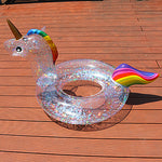 Glitter Unicorn Pool Float Inflatable Swimming Ring