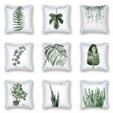 Green Leaf Tropical Cover Decor Pillow Nordic Case