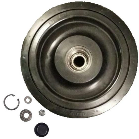 "One 10"" DuroForce Rear Bogie Wheel With Bearing Kit Fits CAT 257 RW2 2238398"