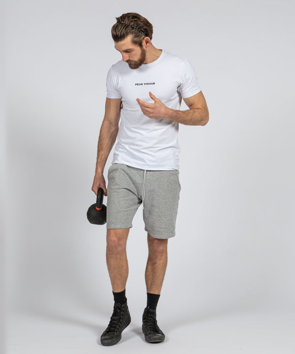Branded Tee - White Peak Vigour