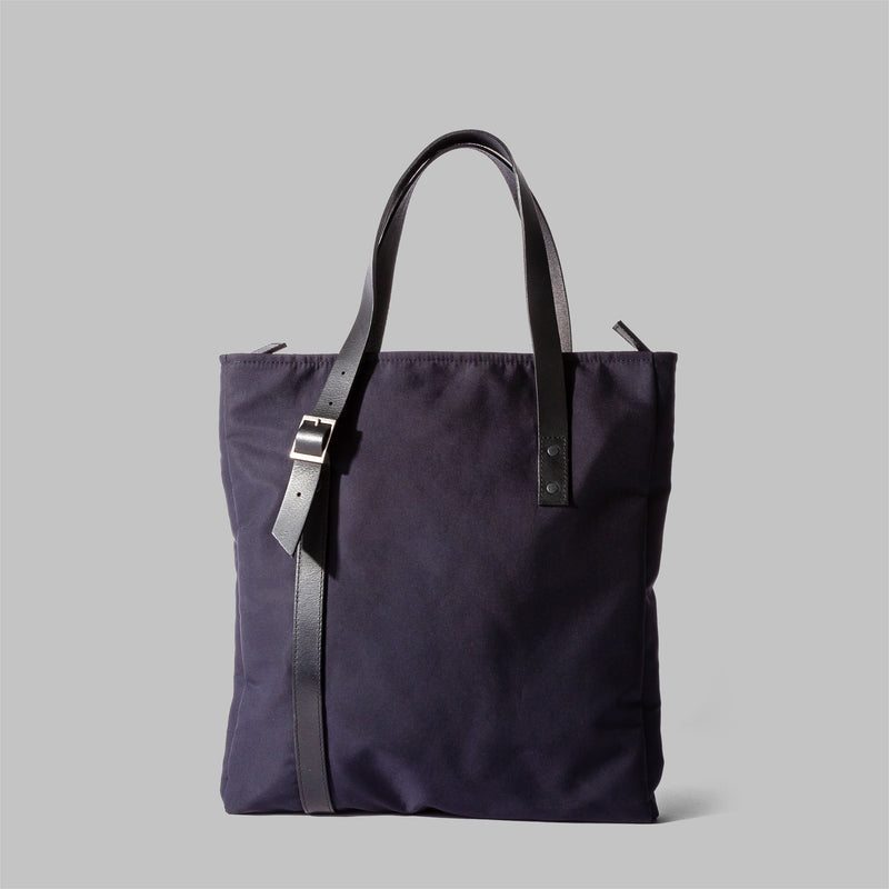 Ladies navy nylon tote bag | Thorndale