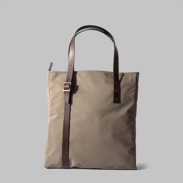 Ladies beige nylon tote bag | Thorndale