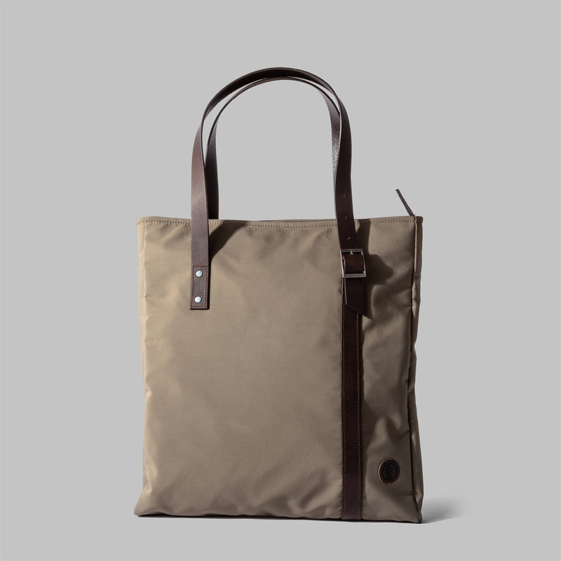 Ladies waterproof beige nylon tote bag | Thorndale