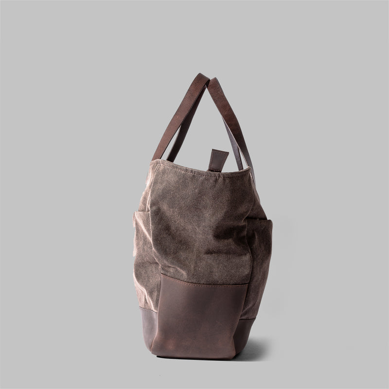 Appdale Tote Bag | Ladies Brown Waxed Cotton Tote Bag | Thorndale