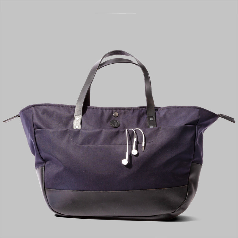 Womens Navy Nylon & Leather Bag | Thorndale, UK