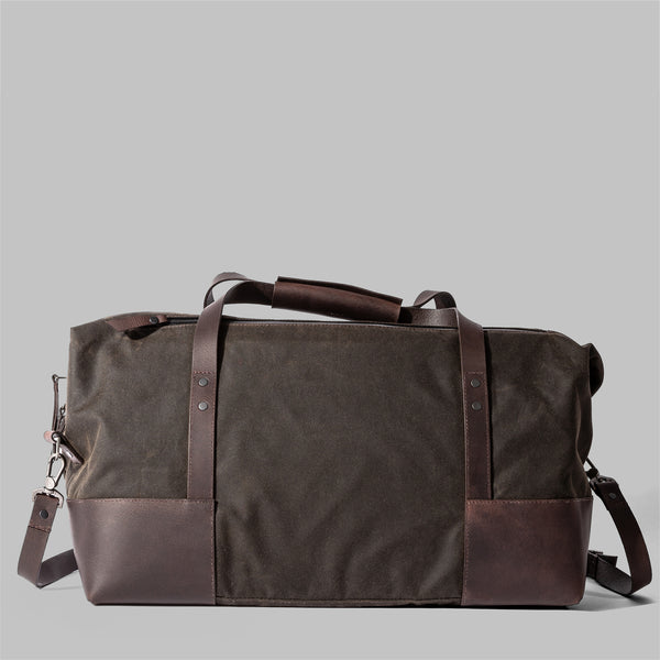 Ashford | Olive Green Waxed Cotton Holdall, Weekender | Thorndale, UK