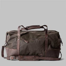 Ashford | Olive Green Waxed Cotton Holdall, Weekender | Thorndale