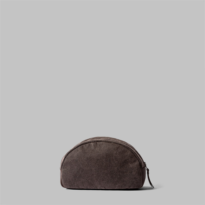 Asterley | Ladies Brown Waxed Cotton Wash Bag | Thorndale