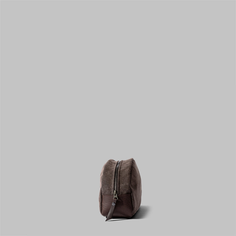 Asterley | Brown Waxed Cotton Wash Bag | Thorndale, UK