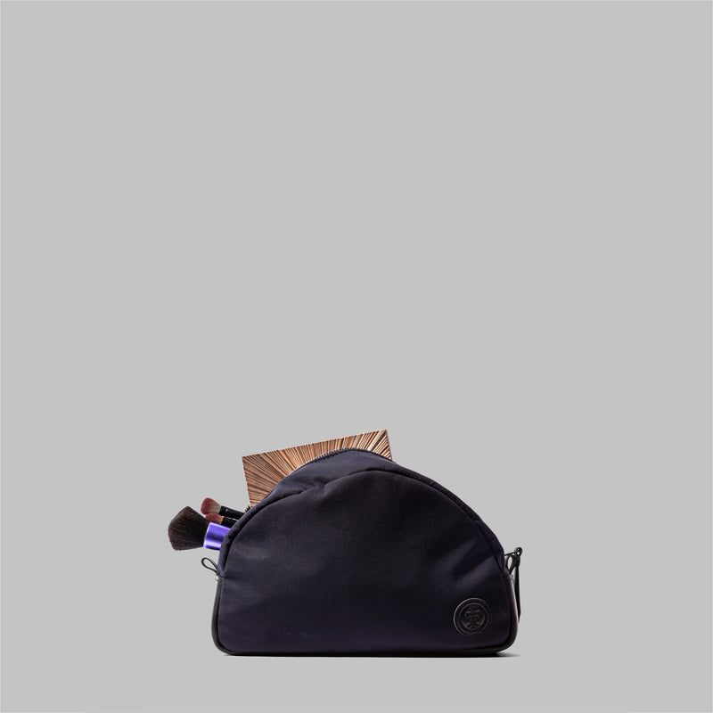 Asterley Brown Waxed Cotton Wash Bag
