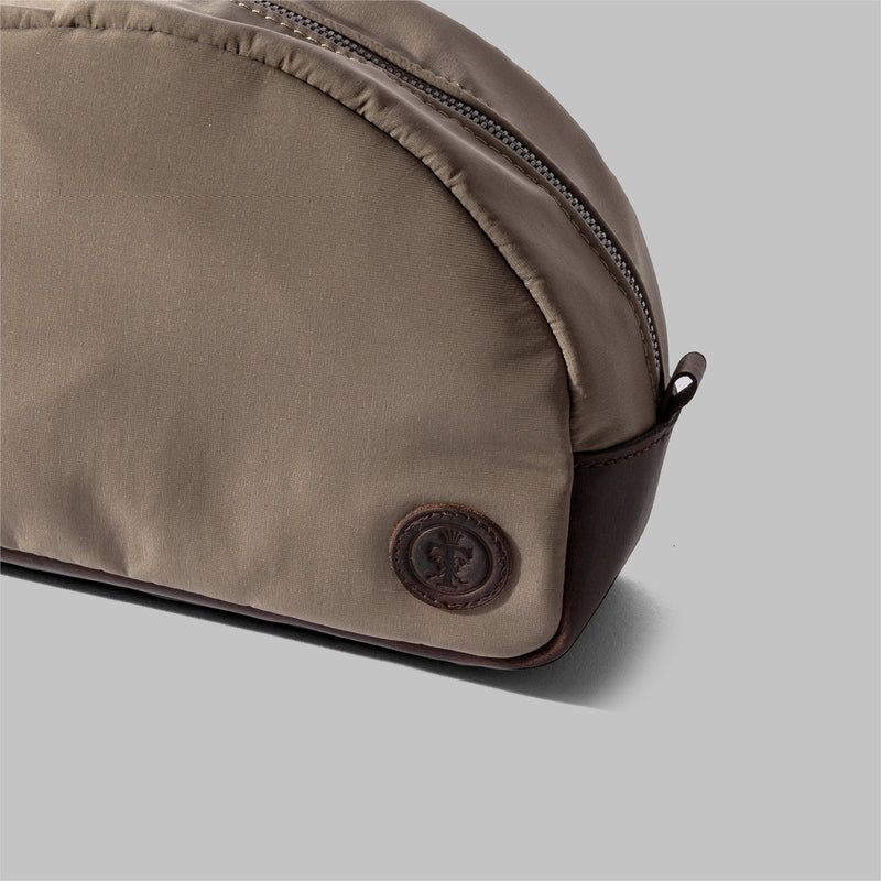 Asterley | Beige Nylon & Leather Wash Bag | Thorndale, UK