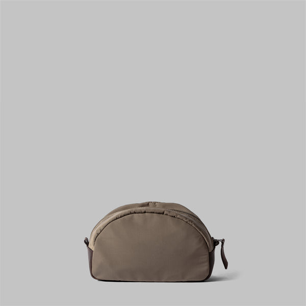 Asterley | Womens Beige Nylon & Leather Wash Bag | Thorndale